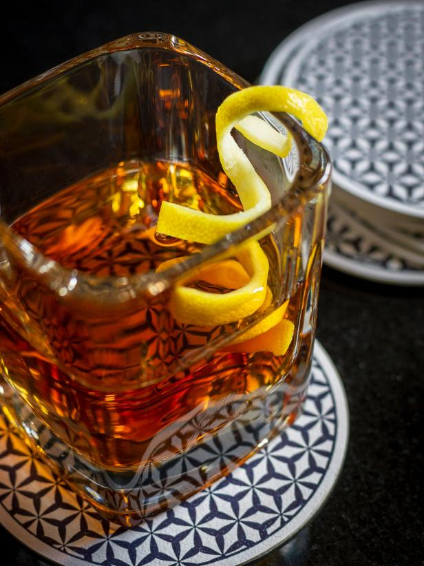 Sazerac Cocktail With Lemon Twist