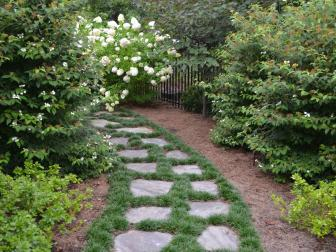 Stone Paver Garden Path