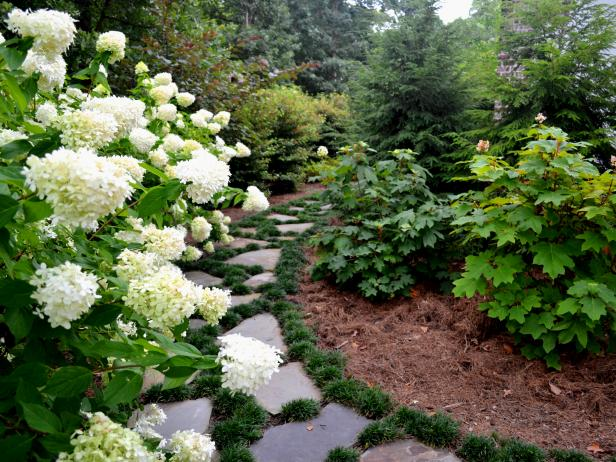Stone Pathway In Traditional Garden
