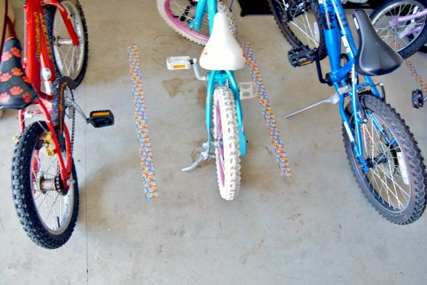 Bike Parking Lanes in Garage