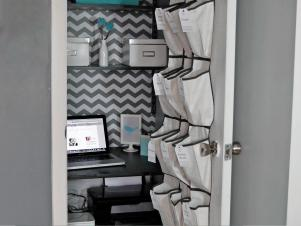 Tiny Closet Converted Into Home Office