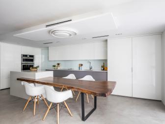 Modern White Open Kitchen