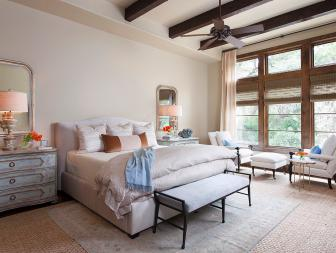 Master Bedroom Features French Country Accents