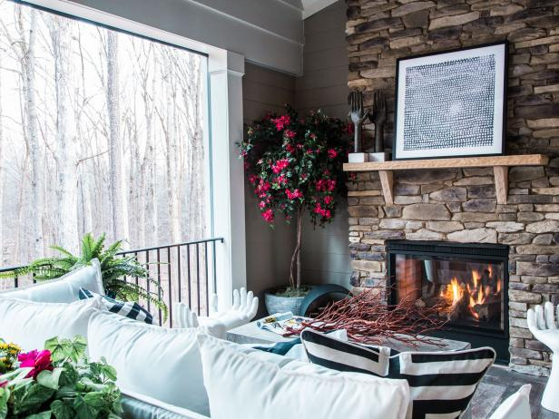 Welcoming Fireplace