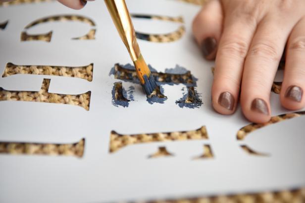 Step 4- Paint Letters