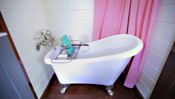 Miniature Vintage-Style Clawfoot Tub From HGTV's Tiny Luxury
