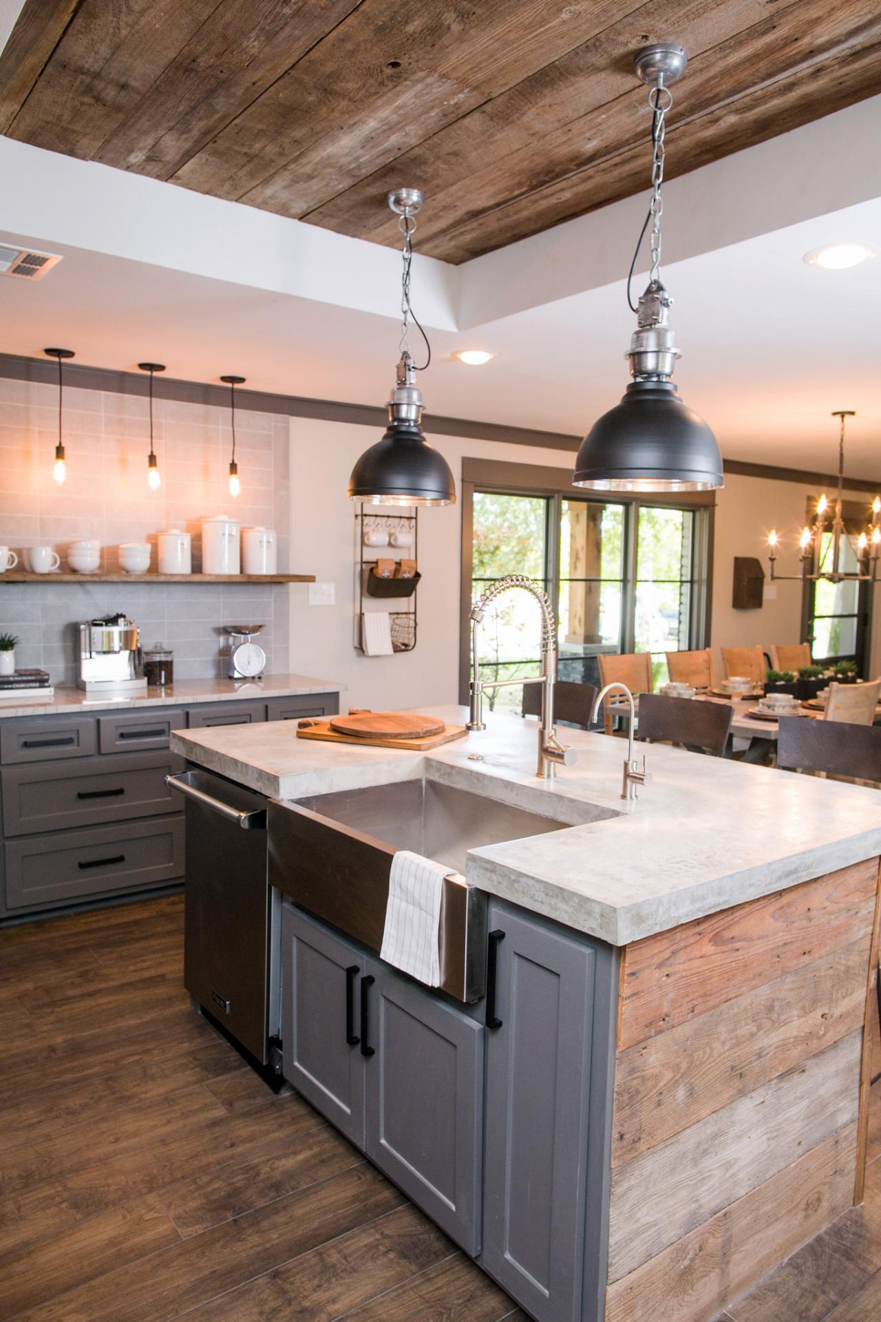 Fixer upper kitchen pendants - Fixer Upper Kitchen Lighting Kitchen After