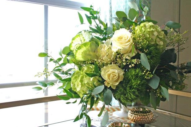 Chic and Romantic St. Patrick's Day Flower Arrangement