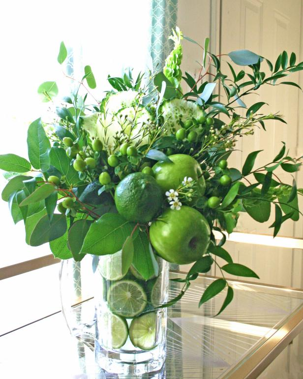 DIY Fruits and Veggies Floral Arrangement