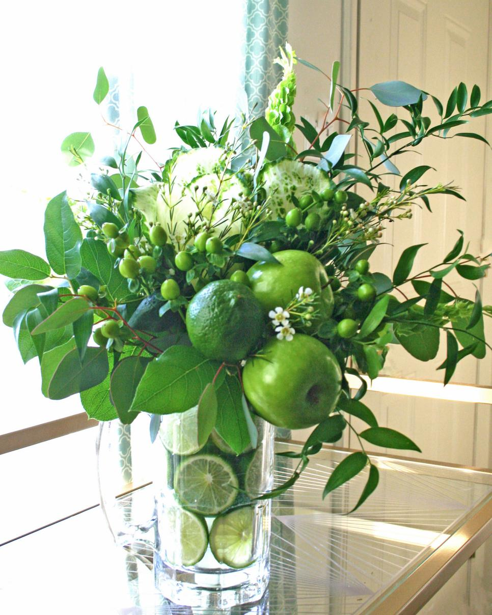 How To Make Flower Arrangements 4 diy green flower arrangements for st. patrick's day | hgtv