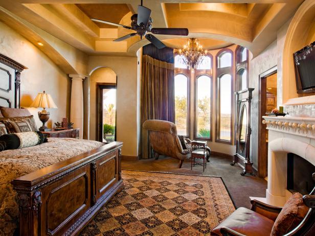 Luxury Master Suite in Mediterranean Estate