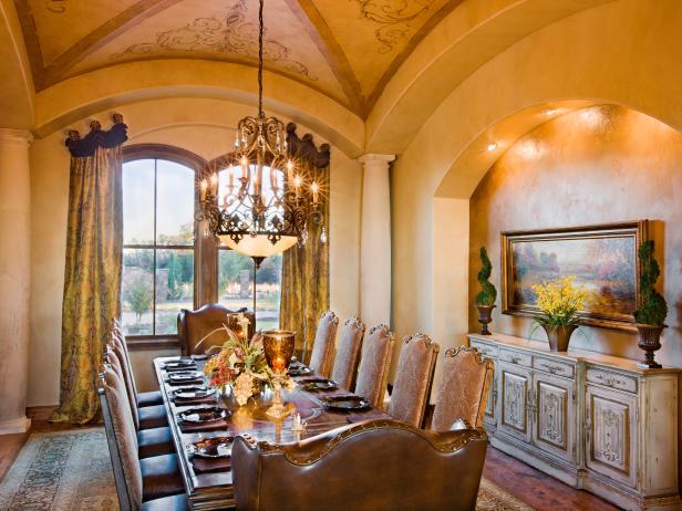 Formal Dining Room in Luxury Estate