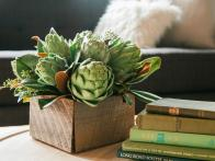 How to Make an Artichoke and Magnolia Centerpiece