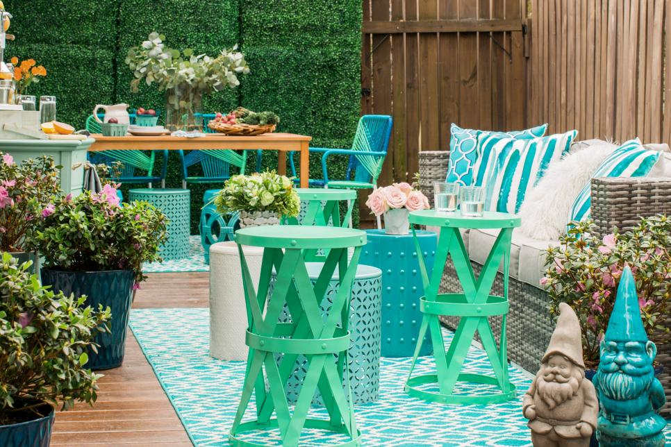 12 patio decorating ideas for spring and summer hgtv for Patio deck decorating ideas