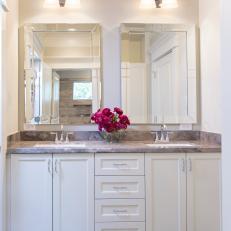 Framed Mirrors Add Polish to Bathroom