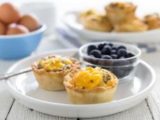 It's pizza...for breakfast. The best of two worlds collide for this quick and easy muffin tin recipe.
