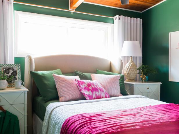 Shamrock Green and Hot Pink
