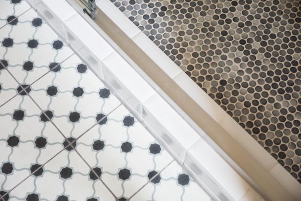 Mismatched Bathroom Floor Tile