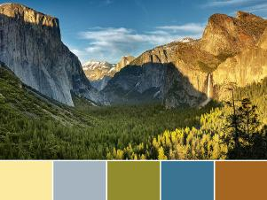 Yosemite National Park Palette