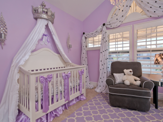 Purple Nursery With Silver Crown