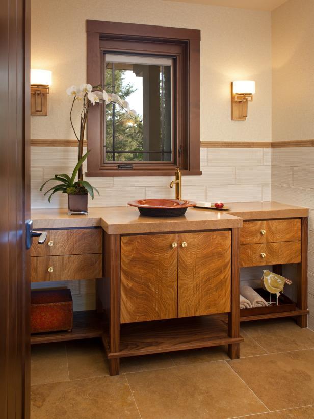 Rooms viewer hgtv for Craftsman bathroom design