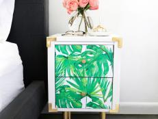 How to Make a DIY Wallpaper Decal Fridge