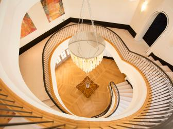Heart-Shaped Staircase in Luxury Home