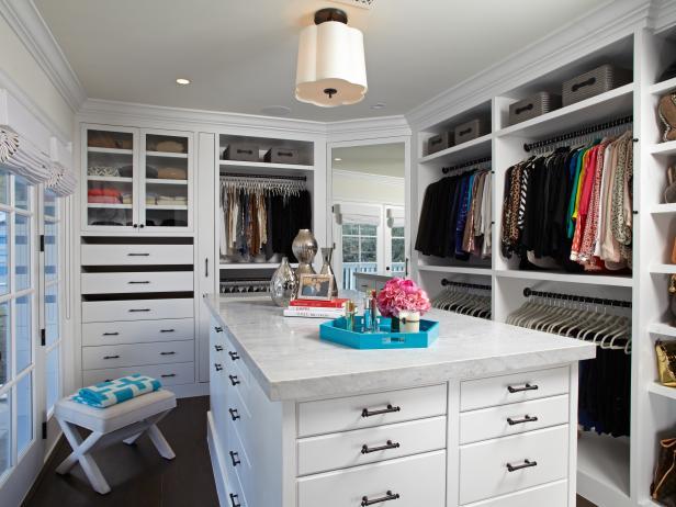 Walk in closet ideas organization topics hgtv - Walk in closet design ideas ...