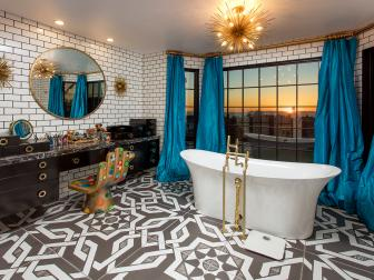 Eclectic Bathroom With Subway Tile