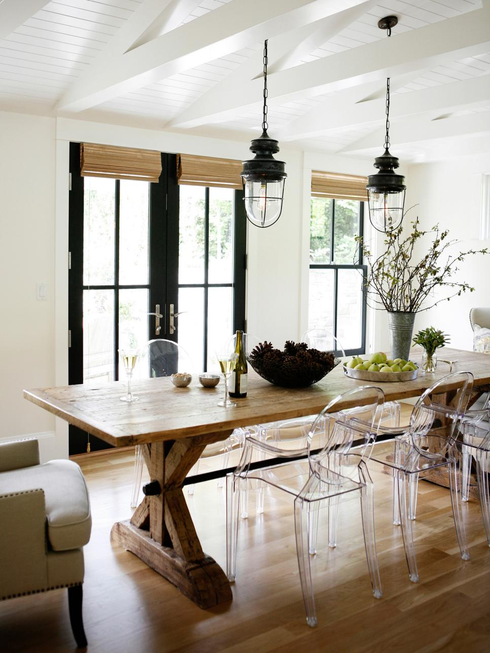 Rustic meets refined 15 ways to add farmhouse style hgtv for Dining room 101 heswall