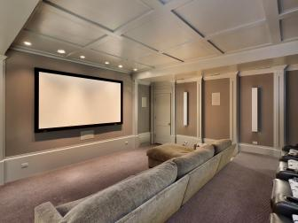 Contemporary Theater Room is Perfectly Comfortable