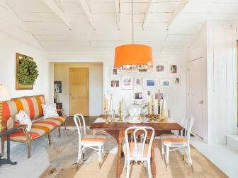 French Country Dining Room With Fresh Orange Accents