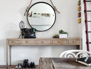 Vintage Round Hanging Mirror