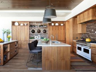 Contemporary Eat-In Kitchen With Two Kitchen Islands