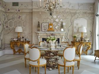 Victorian-Inspired Dining Room Infused With Gold
