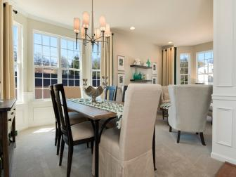 Light and Bright Dining Room is Classic