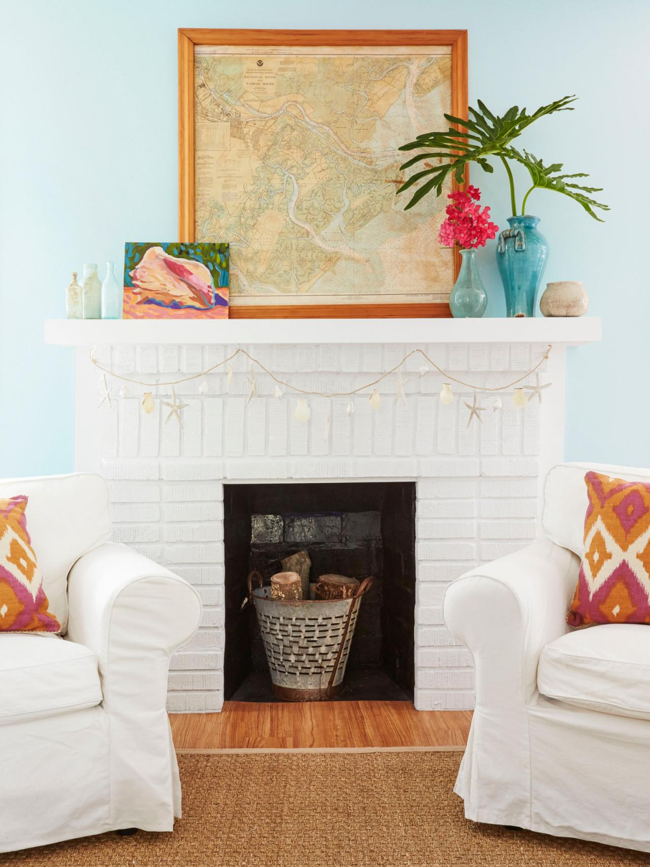 How to paint a brick fireplace hgtv