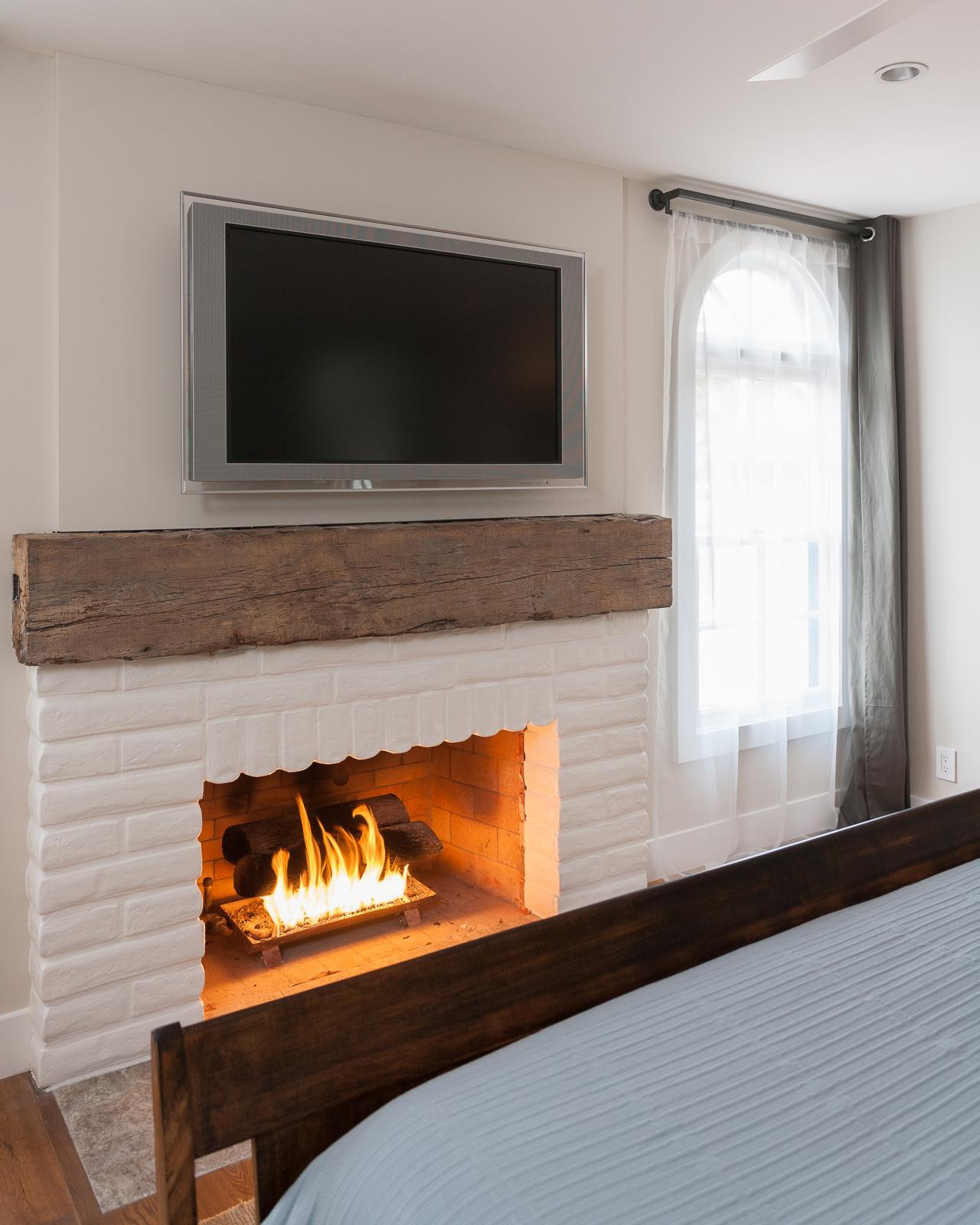 15 Gorgeous Painted Brick Fireplaces Hgtv 39 S Decorating Design Blog Hgtv
