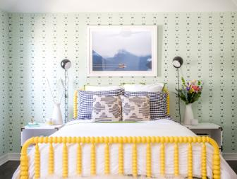Bright Yellow Bed in Eclectic Tween Bedroom