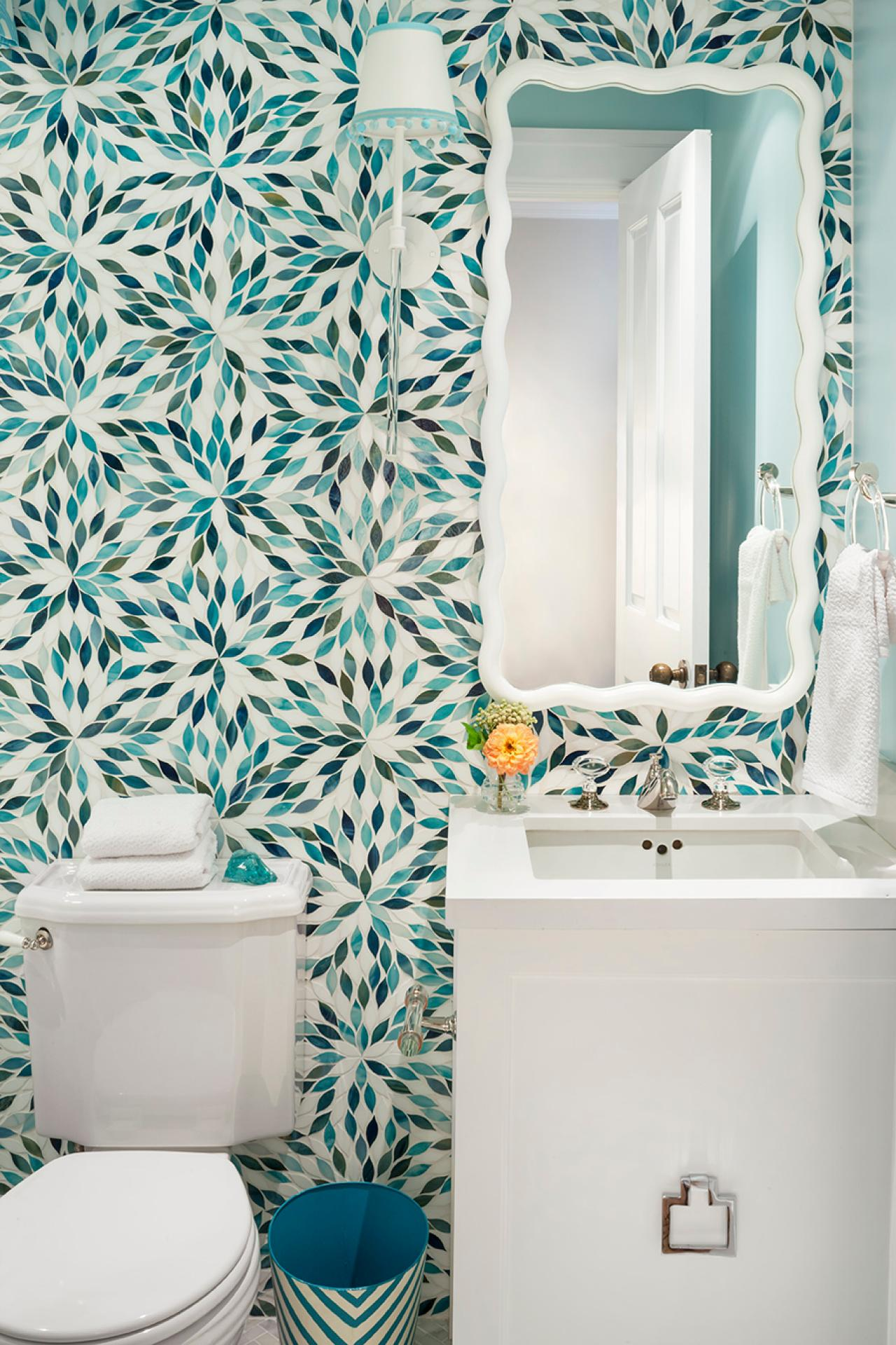 Bathroom Tiles Wallpaper top 20 bathroom tile trends of 2017 | hgtv's decorating & design