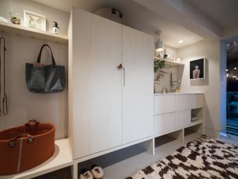 Cabinetry, Sink Transform Former Hallway Closet Into Multifunctional Nook