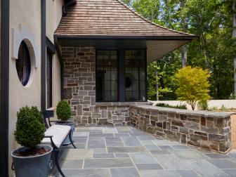 Stone Patio and Exterior