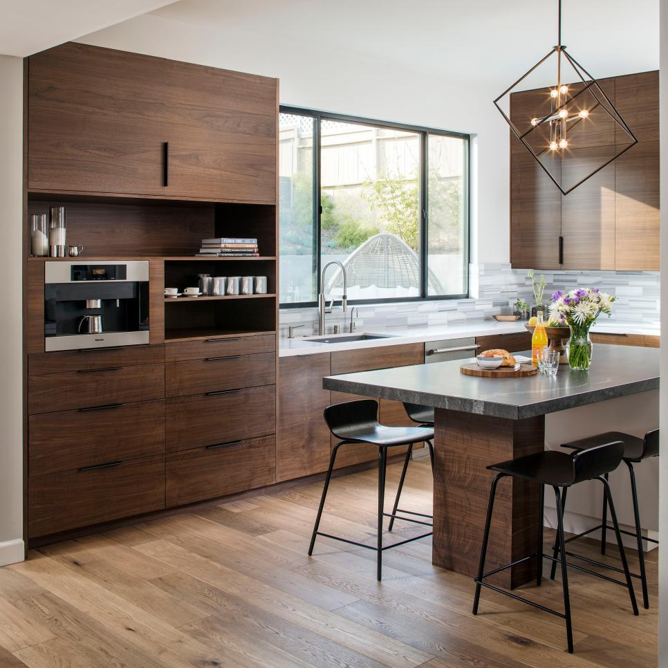 Modern Open Concept Kitchen Infused With Wood Hgtv Faces