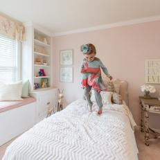 Pink and White Little Girl's Room