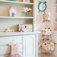 Antique China Cabinet Repurposed Into Little Girl's Dresser