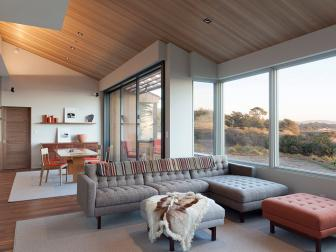 Open Living Room With California View