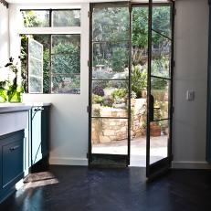 Kitchen Door Opens up to Garden