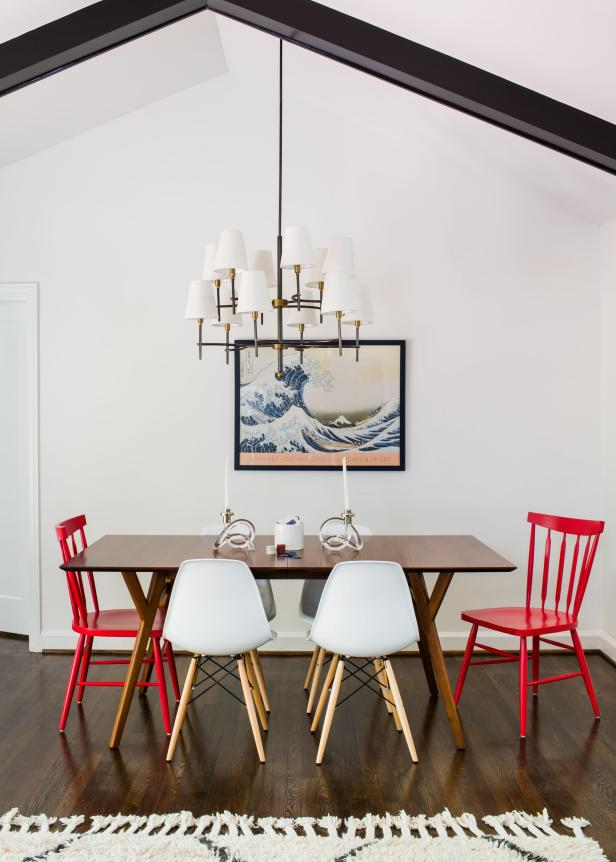 Bright, White Dining Room