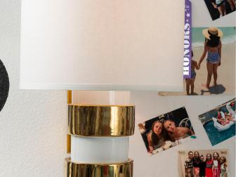 White & Gold Kate Spade Inspired Lamp