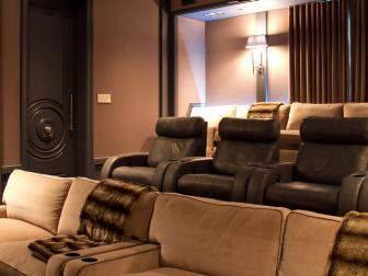 Art Deco Style Screening Room